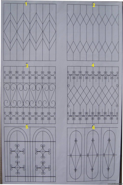 Как сделать железную решетку для окон своими руками